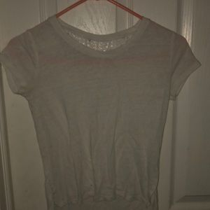 short sleeved shirt with lace back